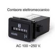 Contaore elettromeccanico time conta ore AC 100-250 V. NO RESET , conta tempo