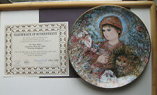 Edna Hibel 1989 Christmas Plate (Peaceful Kingdom) # 2912 B - Collector Plate