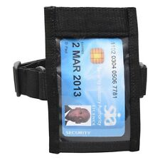 Soporte Negro Táctico ID ARM BAND ID BADGE CARD Doorman Brazalete de Seguridad SIA