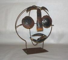 Vintage Mid Century MAN w CIGAR BRUTALIST Metal Sculpture