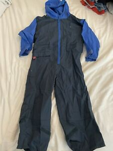 Boys Togz Wellie weather waterproof suit all in 1 blue 5 years fits 4-5 5-6 VGUC