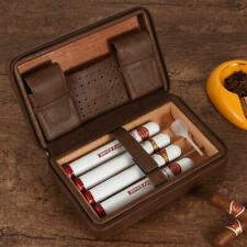Galiner Travel Cigar Humidor Cedar Wood Humidity Box Leather Cigars Case Holder