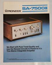 Pioneer SA-7500II Stereo Amplifier Original Brochure Advertising Flyer