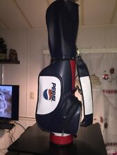 Pepsi Cola Red, White & Blue Cart Golf Bag W/Rain Cover,Collector Piece!
