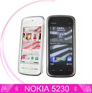 Nokia 5230(Unlocked)3G 3.2'' Touch Screen Smartphone Mobile Phone White&Black