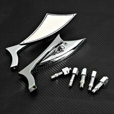 Chrome Spear Rearview Mirrors Fit Harley Davidson Dyna Softail Sportster Cruiser