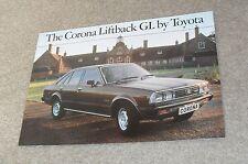 Toyota Corona Liftback GL Brochure 1979