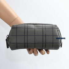 NEW Coach Tattersall Shoe Shine Kit - Polish Cloth Brush Sponge Bag F62132 RARE