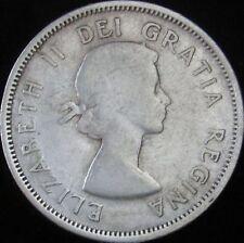 1954 (VF-) Fine+ Canada Silver 25 Cents - KM# 52 - JG