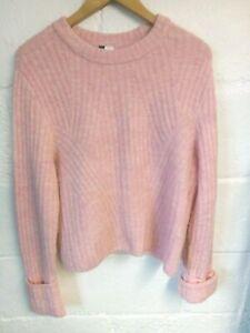 H&M soft pink ribbed jumper size L