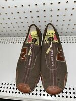 Merrell Arabesque Womens Zip Up Athletic Ballet Flats Shoes Size 9.5 Brown