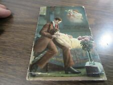 ORIGINAL ANTIQUE - MY ALL IN ALL - VICTORIAN COUPLE  - POST CARD - 1914