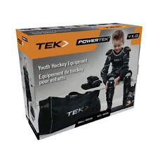 Youth Large pants/gloves/shin/elbow/shoulder/jock/neck/bag hockey equipment set