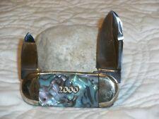 Bulldog Brand Knife Elephant Toe Abalone Swirl Millennium Prototype