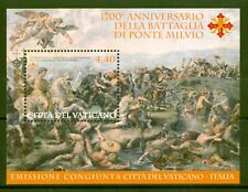 Vatikan 2012 -  Schlacht an der Milvischen Brücke Tiber Rom - Block 38 (1743) ⁑