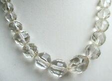 Ancien rare Collier de perles de verre à reflets superbes bijou vintage 1805