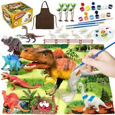 42Pcs Dinosaur Painting Kit for Kids Crafts and Arts Set, Paint Your Own Toy