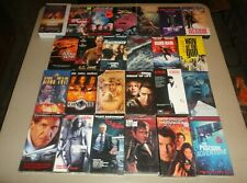 Action (VHS Lot of 25) Bond, Scarface, Indiana Jones, Van Damme, Eastwood