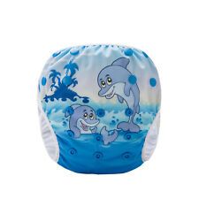 Cheeky Dolphins - Reusable Modern Cloth Swim Nappy, Baby to Toddler, Washable