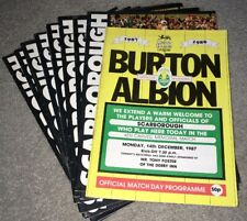 More details for 1987-88 scarborough home & away programmes (1st ever season in the league)