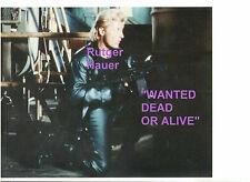 RUTGER HAUER BLACK LEATHER SHOTGUN WANTED DEAD OR ALIVE 8X10 MOVIE SCENE PHOTO B