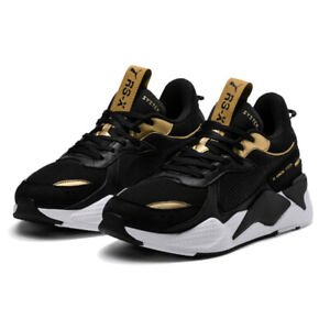 PUMA RS-X Trophy Trainer Shoes Sneakers - Black / Gold - 369451-01 / 36945101