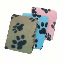 SMALL SOFT FLEECE PAW PRINT PET CAR BLANKET DOG PUPPY CAT BED WARM 70 x 73 cm
