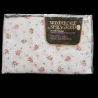 Vtg Springmaid Wondercale Pink Dimity Delight Floral Flowers Twin Fitted NOS NIP