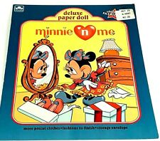 Vintage Golden Deluxe Paper Doll Minnie N Me Minnie Mouse 1990