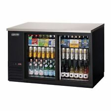 """Everest Ebb59G-Sd 57"""" Two Section Back Bar Cooler with Glass Door, 17.0 cu. ft."""