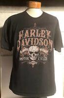 Harley Davidson Motorcycles Capital City, Madison WI Black XL T Shirt Skull