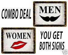 RESTROOM classic METAL signs style MEN / WOMEN antique bathroom style DECOR 496
