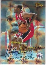 1996-97 TOPPS HOBBY MASTERS: JERRY STACKHOUSE #HM12 SIXERS 2x ALL-STAR TAR HEELS