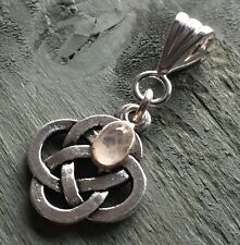 Rose Quartz Celtic Knot 4 Elements Pendant Wicca Pagan Gothic Ritual Witch