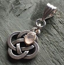 Rose Quartz Celtic Knot 4 Elements Pendant Wicca Pagan Gothic Ritual Witch
