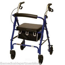 "Junior Petite Invacare/Probasic Junior Rollator - Blue user height: 4""11"" - 5'7"""