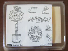 Stampin Up IN A PEAR TREE Set 7 Stamps Partridge, Wreath, Christmas Words ~ NEW