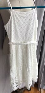 New Justice Girls White Ivory 10 Lace Dress