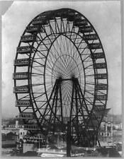 """8"""" x 10"""" Photo Ferris wheel at Chicago World's Fair"""