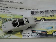 ALEZAN MODELS . 1/43. ALFA ROMEO ALFETTA CONCEPT SPIDER 1972