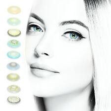 PREMIUM Farbige Kontaktlinsen Silikon-Hydrogel SUPER NATÜRLICH + Behälter!