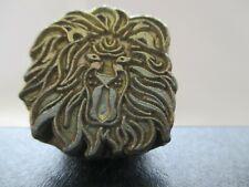 Vintage Basic Tool Usa Leather stamp stamping large # 211 Lion Head