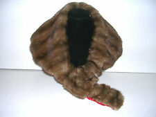 GENUINE MINK COLLAR/ SCARF/ MINI WRAP/ ACCESSORY HANDCRAFTED  FROM VINTAGE FUR