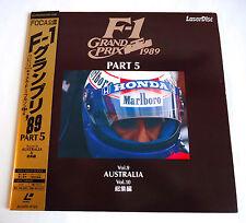 F-1 GRAND PRIX GP 1989 Part.5 AUSTRALIA & HIGHLIGHTS LD Laserdisc JAPAN F1