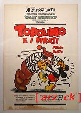 TOPOLINO supplemento IL MESSAGGERO Topolino e i pirati parte I 18/11/89