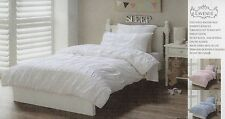 MELODY Pink Ruched Satin Ribbon Lace trim SINGLE Quilt Cover Set/Euro PC COTTON