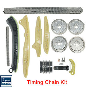For Mercedes-Benz W211 E350 E550 Timing Chain Kit + 4Pcs Camshaft Adjuster Gears