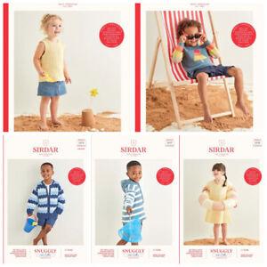 Sirdar Snuggly 100% Cotton DK Patterns  3-7 yrs £2.90 per pattern