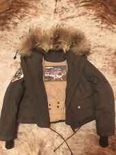 Dsquared down jacket with hood, fur, sz. 38