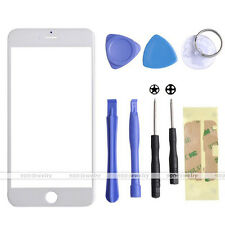 "White Replacement Front Outer Screen Glass Lens Kit For iPhone 6 Plus 5.5""+Tools"